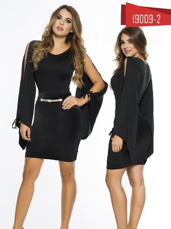 Vestido Moda Colombiana Cereza - Ref. 111 -19009-2 Negro