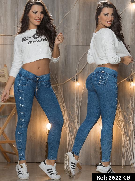 Jeans Levantacola Colombiano Capellini Boutique  - Ref. 106 -2622CB