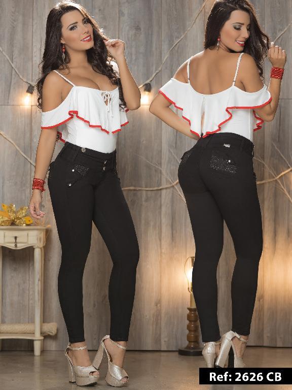 Jeans Levantacola Colombiano Capellini Boutique - Ref. 106 -2626CB