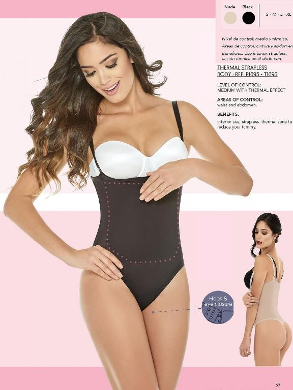 Thong Thermal Strapless Body - Ref. 136 -1696