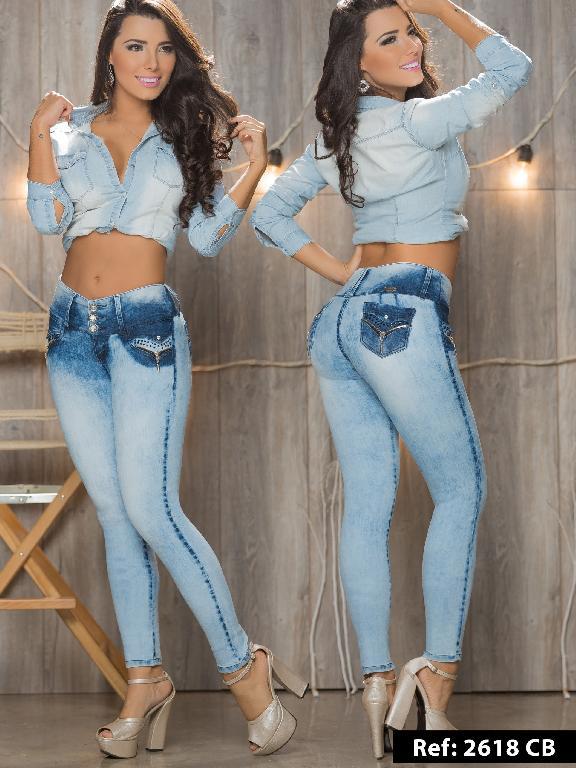 Jeans Levantacola Colombiano Capellini Boutique  - Ref. 106 -2618CB