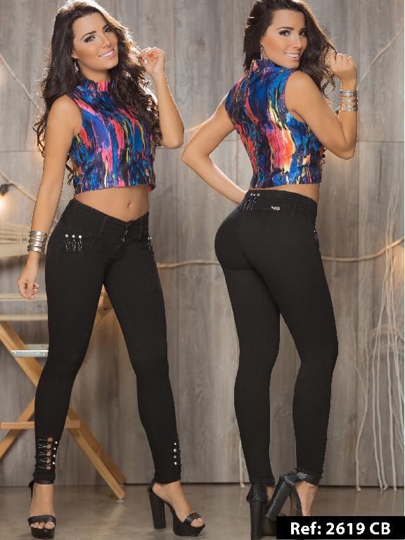 Jeans Levantacola Colombiano Capellini Boutique  - Ref. 106 -2619CB