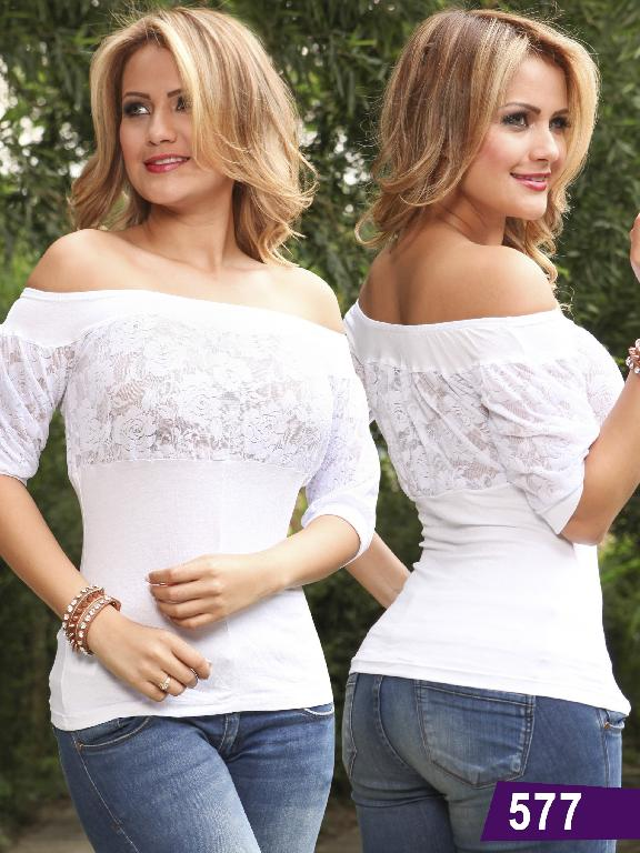 Blusa Colombiana Lolitas - Ref. 107 -577 Blanca