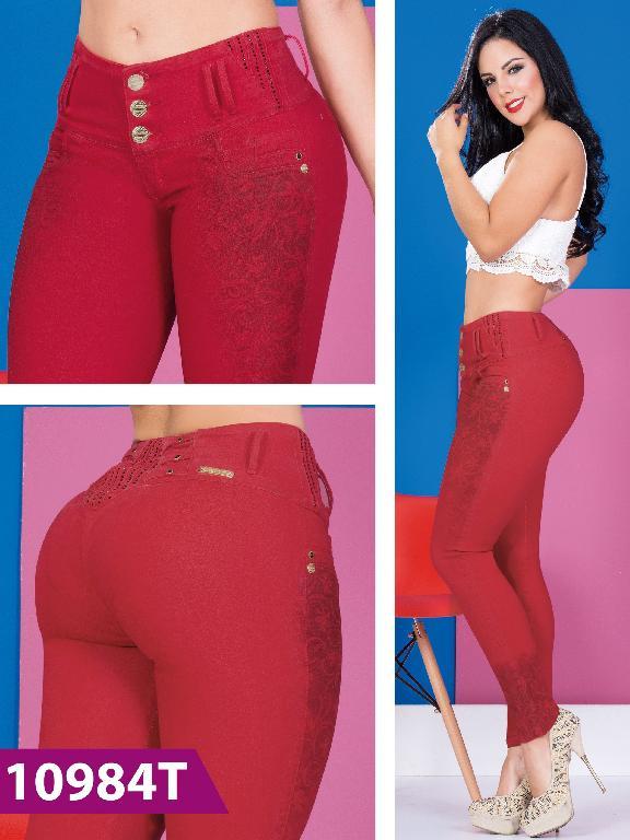 Jeans Levantacola Colombiano Rojo Tabbachi - Ref. 101 -10984T
