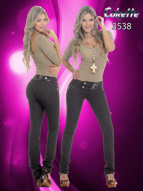 Jeans Dama Levantacola Cokette - Ref. 190 -3538