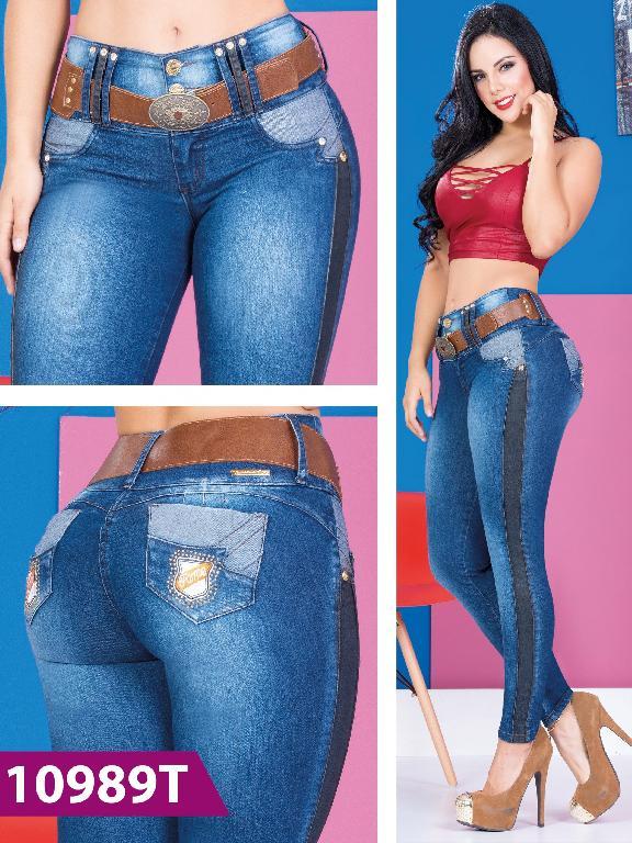Jeans Levantacola Colombiano Azul Tabbachi