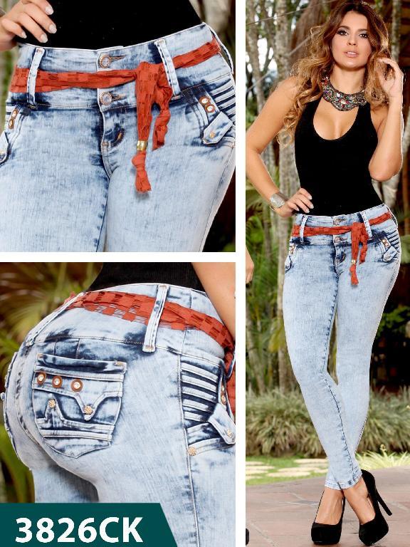 Jeans Levantacola Colombiano Cokette  - Ref. 119 -3826CK