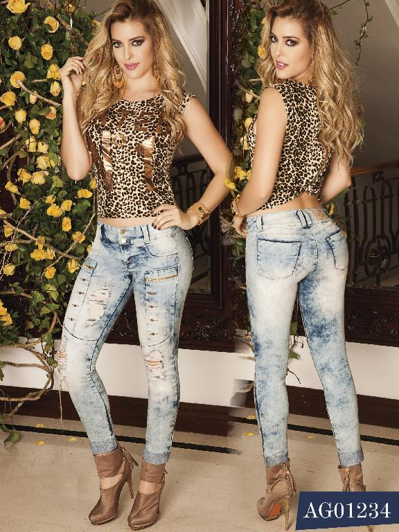 Colombian Butt lifting Jeans - Ref. 124 -1234 AS