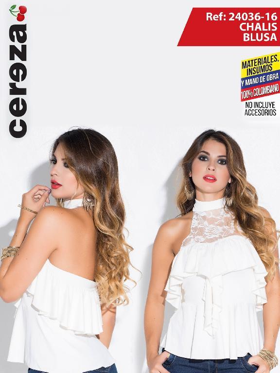 Blusa Moda Colombiano Cereza Beige - Ref. 111 -24036-16 Beige