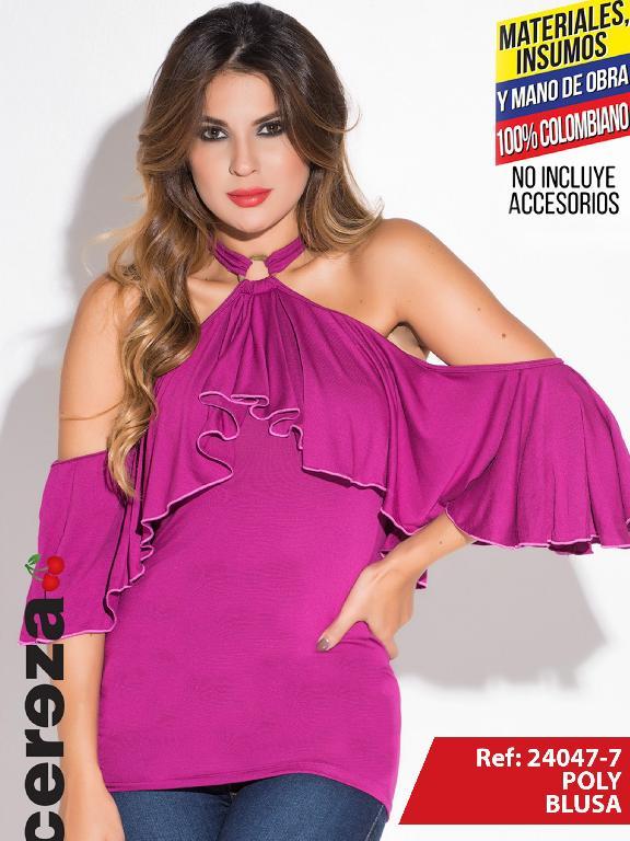 Blusa Moda Colombiana Cereza Fucsia - Ref. 111 -24047-7 Fucsia
