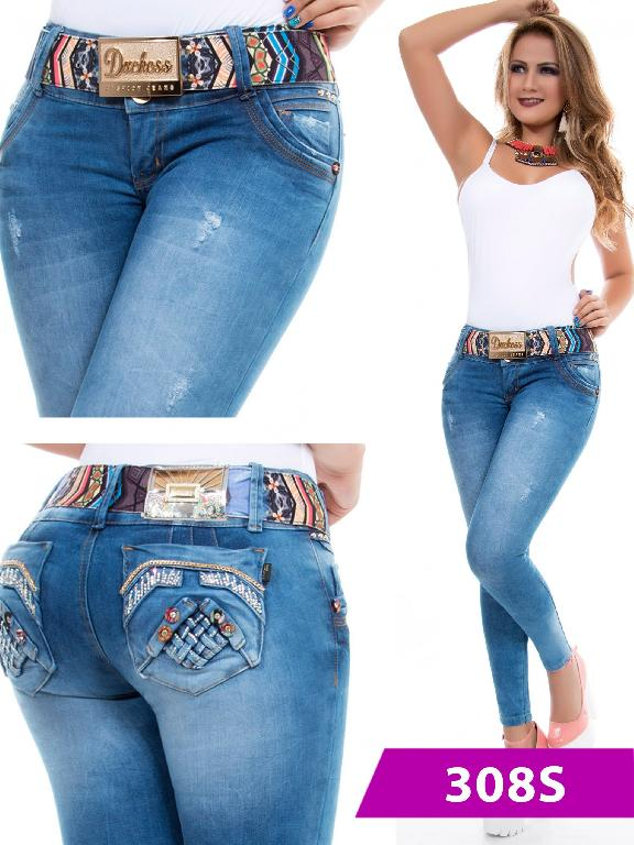 Jeans Levantacola Colombiano Duchess - Ref. 237 -308 S