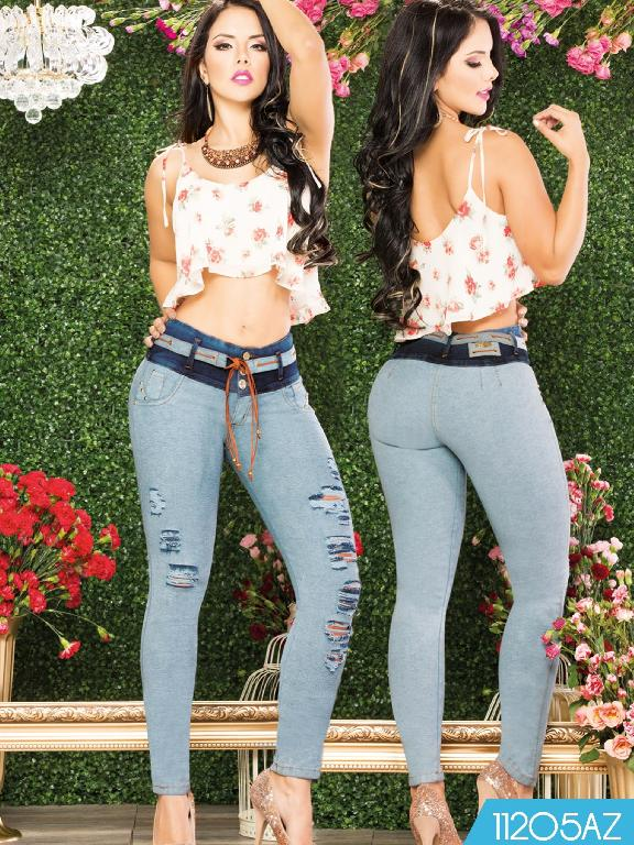 Jeans Levantacola Colombiano Azulle - Ref. 232 -11205 AZ