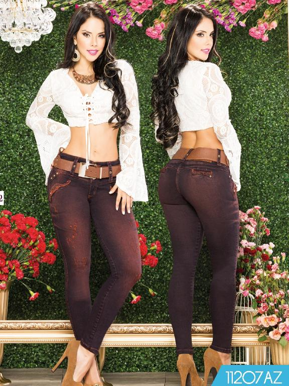 Jeans Levantacola Colombiano Azulle  - Ref. 232 -11207 AZ