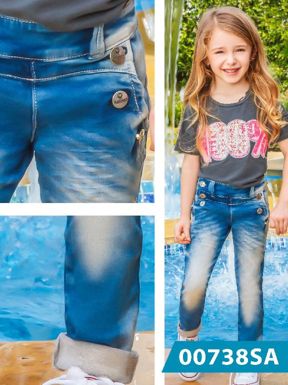 Jeans Infantil Colombiano Asi Sea  - Ref. 124 -0738 AS