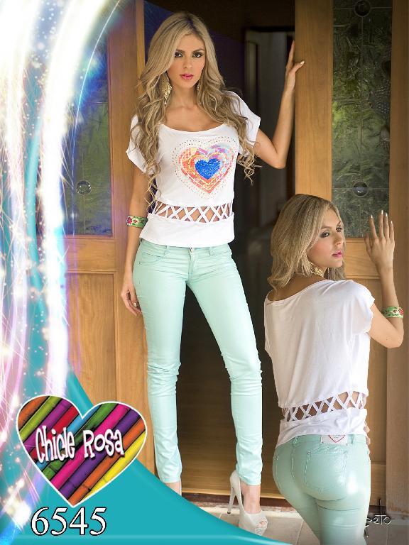 Pantalones Chicle Rosa